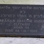 Abraham Shalom Joseph Eliyahu aged 53 died 8 Dec 1903