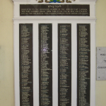 Roll of Honour, East London Synagogue. Photo by Boreenatra