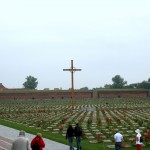 Christian graves of victims.