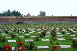 Jewish graves of victims.Terezin.(Theresianstadt)