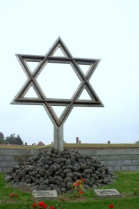 Star of David.Terezin Memorial.