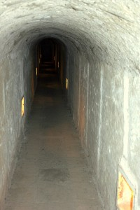 Corridor from original fort, built end 18th. century.