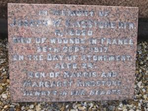 Kingstone JW 1 @410 26-09-1917 (CWGC as 27-09-1917)