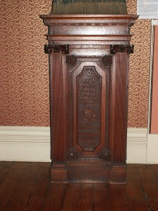 Bimah, in museum.from Merthyr Synagogue.