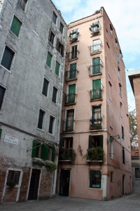 Ghetto. only Tower Buildings in Venice, now flats for Artists etc.