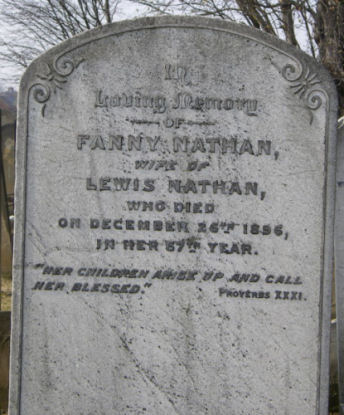 Nathan, Fanny (married name)