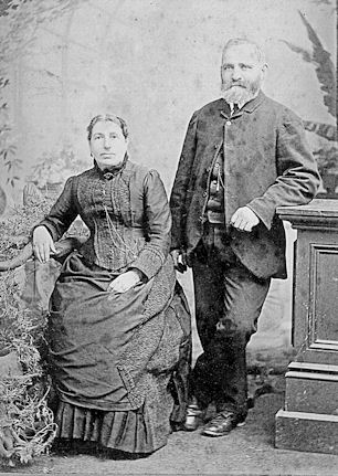 Dinah Hart nee Nathan and Charles Hansen wedding 10 Nov 1875, Greymouth NZ