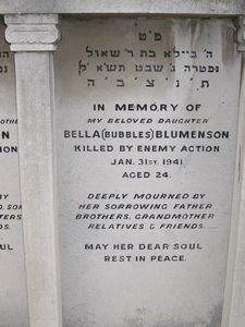Blumenson B WW2 Civilian Casualty 31-01-1941