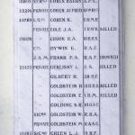 Roll Of Honour Egerton Synaoogue. Photo by Boreenatra